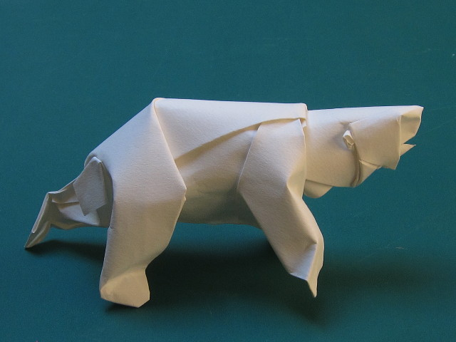 Illustration Abstract Origami Polar Bear Isolated Stock Vector ...   480x640